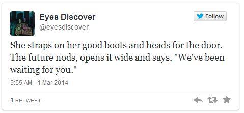 Eyes Discover Tweet 1